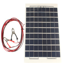 18V 10W Portable Solar Panel Battery Charger for 12V battery Boat Car Camping Power with Clips