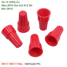 500 Pcs P6 Wiring Cap Red Spring Screw Terminal Torsion Rotary Terminal Genuine Ul Certification(China)