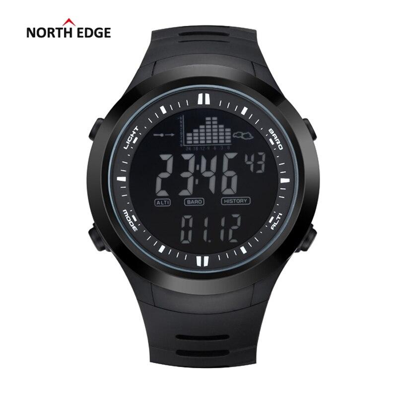 NORTH EDGE Fashion Men Sports Watches Waterproof 50m Outdoor Digital Watch Fishing Swimming Wristwatch Reloj Hombre Montre Homme<br>