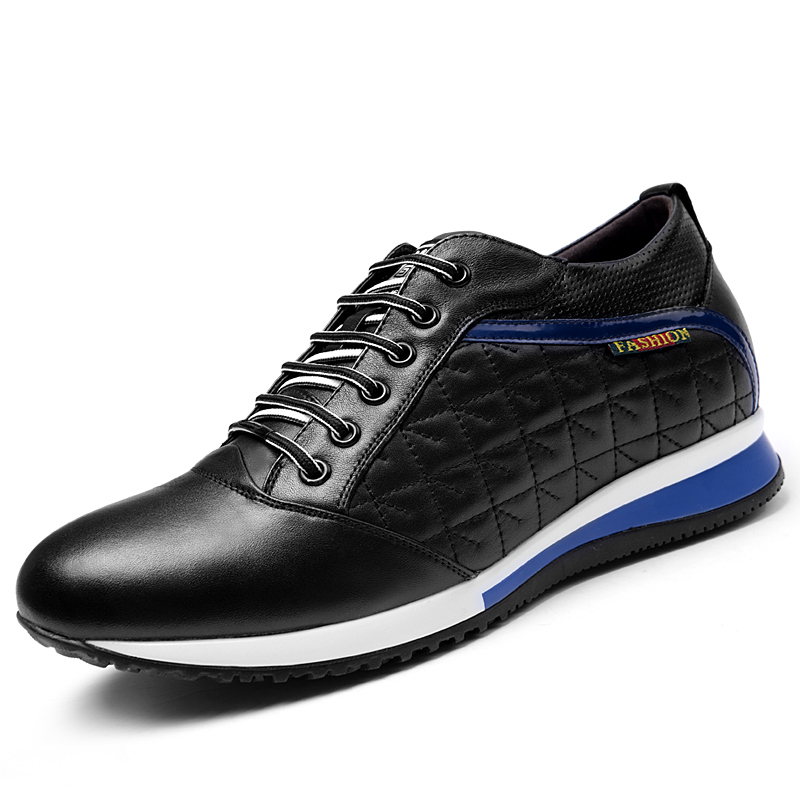 Mens Casual Shoes Height Increasing Elevator Shoes Breathable Lace-up Outdoor Taller 3.15 Inches<br><br>Aliexpress