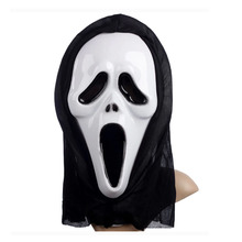 New White/Red Horror Scream Mask with Scarf Halloween Masquerade Party Masks Party Supplies 8 Designs 10pcs/lot DEC140