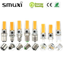 Smuxi Dimmable COB LED Light Bulb E12 E11 E17 G8 BA15D E14 G4 G9 2.5W Lamp Replace Spotlight Bulb Chandelier Lighting(China)
