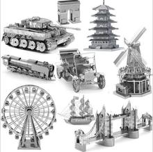 DIY Puzzle Tank 3D Metal Nano World of Tank Architecture Building Kits Metal Models MIllennium Falcon Puzle 3D Marvel Star Wars