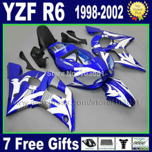 custom motorcycle fairing for YAMAHA YZFR6 1998 1999 2000 2001 2002 YZF600 98 99 00 01 02 YZF R6  bodywork repair fairings kit