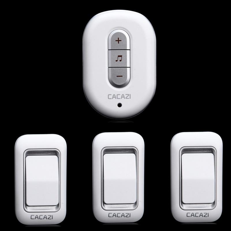 3 waterproof door bell buttons+1 door bell receiver 300M remote control AC 110-220V wireless doorbell provide plug adapter<br><br>Aliexpress