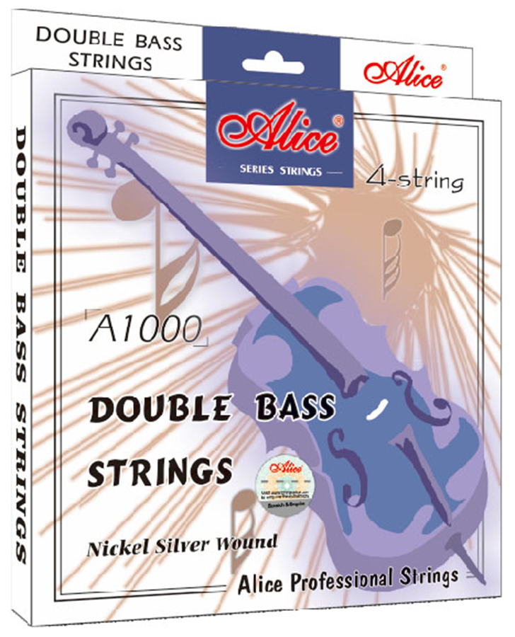 Double bass strings Steel Core Nickel Silver Wound Alice A1000<br>
