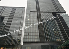 Aluminum Framed Double Layer Glass Curtain Wall for Heat Insulation Steel Structure Building System(China)