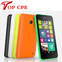 "Unlocked Dual Sim Mobile Phone Original Nokia Lumia 630 Windows phone 8.1 Snapdragon 400 Quad Core 4.5"" Screen 3G mobile phone"