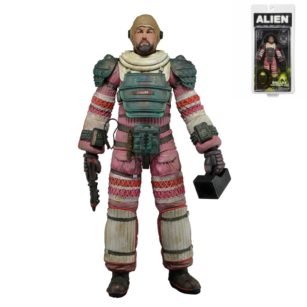 NECA Aliens Series 4 DALLAS(COMPRESSION SUIT) 18cm/7 Action Figure New in Package Free Shipping<br>