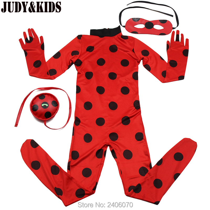 Children Clothing Sets Lady Bug Cosplay Sets Ladybug Halloween Christmas Party Custume Kids One-piece Girls Suit Spandex Onesie02
