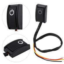 Car DIY Switch DC 12V 200A Car DIY Switch Paste Type Sticky Button Switch ON/OFF Car Styling 2017 New(China)