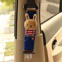 1 Piece Car Accessories Belt Cover Insurance Shoulder Pad Cover Lengthen Cute Cartoon 3D Animal Car Interior Decoration Ornament(China)