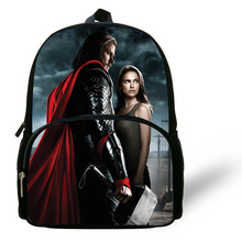 12-inch Children School Backpack Thor Bag Mini Boy School Bags Backpack Kids Hero Thor Print Mochila Escolar Menino