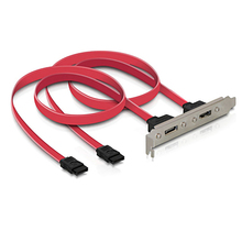 2 Ports SATA II Internal to eSATA II External PCI Bracket SATA Extension Cable 45cm