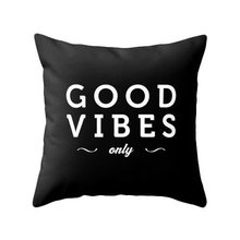 "Good Vibes Only Throw Pillow Case Letter Cushion Cover Black White Gifts Home Decoration Printed Car Sofa Decor 18"" Two Sides(China)"