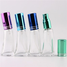 Hot 9 Colors 5ml Fashion Empty MIni Water Cube Glass Perfume Bottle Parfum glass bottle 7 ml small refillable perfume atomizer(China)