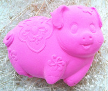 Design 920 Lovely Pig Shape Silicone Fondant Soap Mold Sugar Craft Mold Candle Mold Chocolate Mold for DIY Decoration use(China)