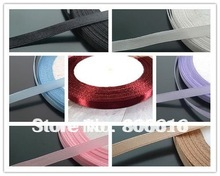 (Mix 7 colors or choose color) 6MM 175Yard Polyester Riband Band Woven Ribbon Riband Cord Hair Jewerly Findings