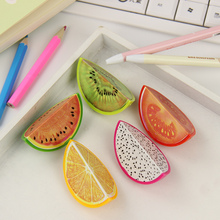 3 PCS Novelty Fruit Plastic Pencil Sharpener Pencil Cutter Knife School Supplies Papelaria
