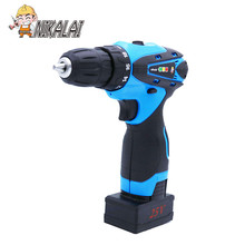 25v Rechargeable Lithium Battery household Cordless Drill bit charging Electric Screwdriver hand battery drill Power Tools set(China)