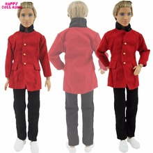 Handmade Prince Outfit Shirt Trousers Men Suits Tuxedo Royal Clothes For Barbie Friend Ken Doll 1:6 Puppet Costume Kid Toys Gift