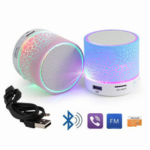 Portable Mini Flashing LED Bluetooth Speakers A9 Wireless Small Music Audio TF USB FM Stereo Sound Speaker For Phone with Mic