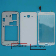 Black/ White Back Housing Cover Frame + Touch Screen Digitizer For Samsung Galaxy Grand 2 II G7102 G7106 Phone Free shipping