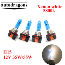 Buy 4*H15 high beam DRL fog lamp plasma Halogen Lights bulb 12V 35W 55W Xenon lamp blue glass GOLF6 5800K 7500K Clear for $46.24 in AliExpress store