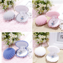 5 Colors Shell Shape Lovely Velvet Wedding Engagement Ring Box For Earrings Necklace Bracelet Jewelry Display Gift Box Holder
