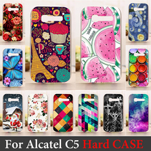 For Alcatel One Touch Pop C5 5036 OT5036 5036D 4.5 inch Phone Case Hard Plastic Cellphone Mask Protective Cover Housing Skin
