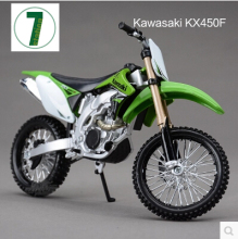 Hot sale KAWASAKI KX 450F Maisto 1:12 motorcycle model kids toy Motocross collection green Mountain biking gift boy KTM KX450F