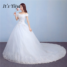 Buy It's Yiiya 2017 New Real Photo Flowers Boat neck Sweep Brush Train White Lace Trailing Simple Wedding Dresses Custom Made TH82 for $71.25 in AliExpress store