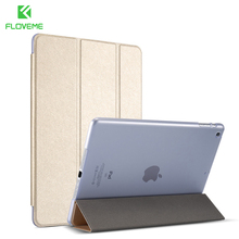 "FLOVEME For iPad Air 1 2 mini 1 2 3 4 Protective Case For iPad Pro mini 9.7"" Shell Silk Skin Stand Leather Case For iPad Air 2 1"