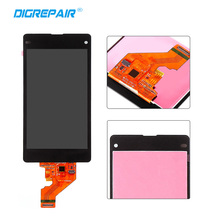 Black LCD Display+ Touch Screen Digitizer Glass Assembly For Sony Xperia Z1 Mini Compact D5503 Replacement, Free Shipping