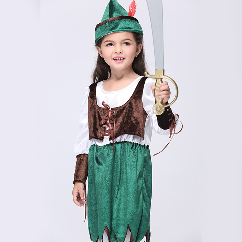 2017 Baby Girls Clothes Children Kids Europe and America Halloween Carnival Cosplay Costume Childs Pirate Role Play Dresses<br><br>Aliexpress