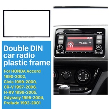 2 Din Car Radio Frame Install Dash Bezel Trim Kit Fascia Dash Panel for 1990-2002 Honda FIT Jazz No gap Audio Cover Trim