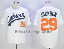 mens #29 BO JACKSON Baseball Jersey Chicks Moive jerseys White Retro throwback Embroidery stitching T Shirt(China)