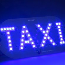 2016 Newest Taxi led Car Windscreen Cab indicator lamp Sign Blue LED Windshield Taxi Light Lamp 12V Accessories