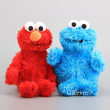 High Quality Sesame Street Elmo Cookie Monster Soft Plush Toy Dolls 30-33 cm Children Educational Toys(China)