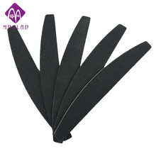 Free shipping 5pcs/lot black half moon banana shaper sanding nail art file buffer block manicure tools