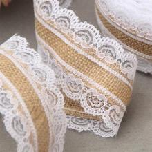 Buy 10M/ Roll Linen Fabric Ribbon Lace DIY Wedding Bouquet Craft Sewing Supply Apparel Accessories Home Decoration Gift Pack LRW5147 for $6.70 in AliExpress store