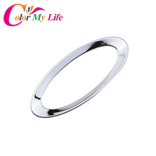 Color My Life ABS Chrome Car Steering Wheel Logo Circle Trim Sticker for Ford Ecosport Fiesta MK7 Focus 2 4 MK2 MK4 Accessories(China)