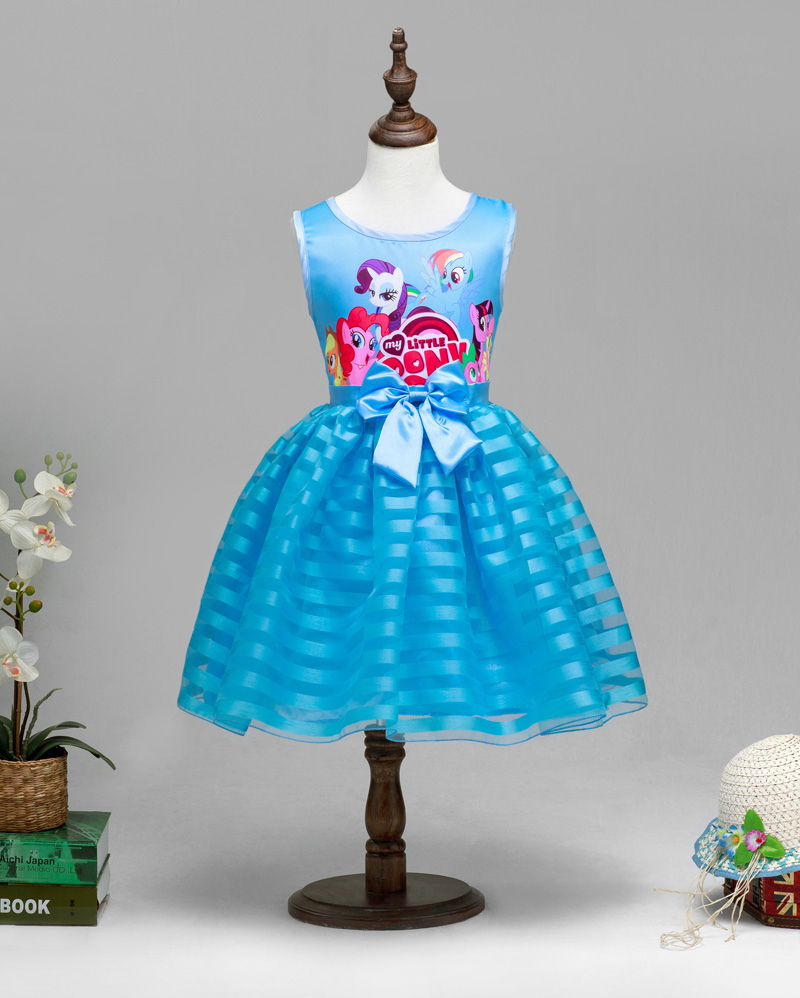 2016 New Summer Girls Clothing Little Pony sleeveless girl dress roupas infantis menina ropa de ninas vestido infantil<br><br>Aliexpress