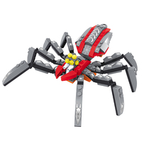 AUSINI Children Educational Toys Diecast Outer Space Spider 5-7 Years Old Kids Hobbies Non-Remote Control Plastic Model Toy(China)
