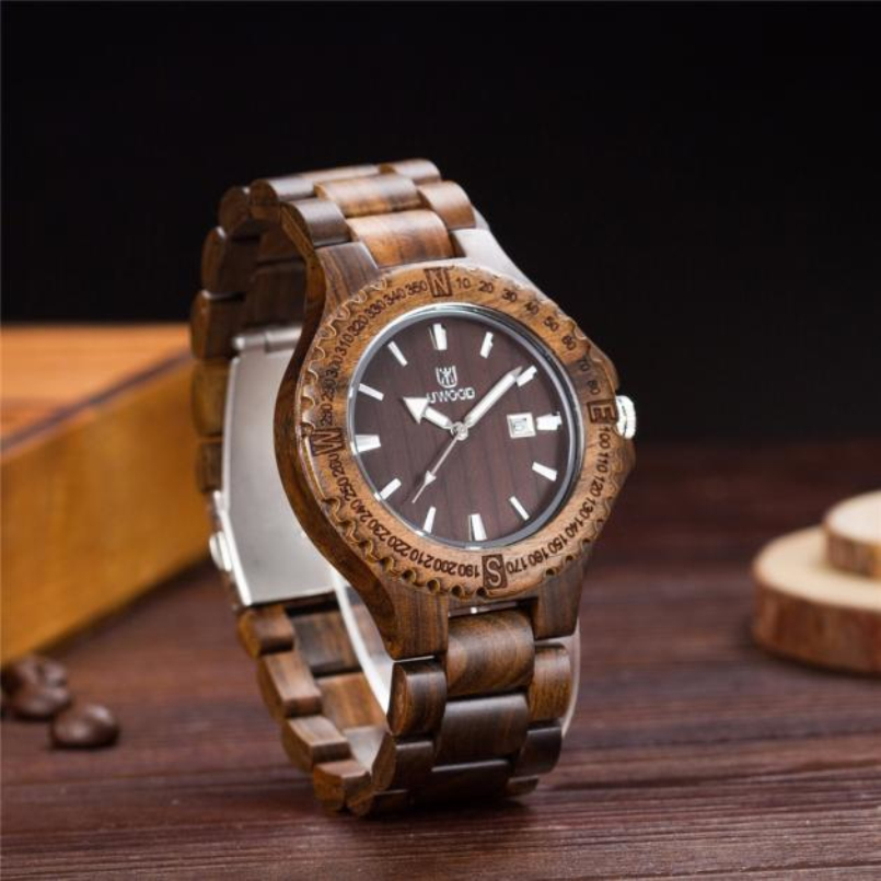 Excellent Quality Natural Black Wood Analog Watch Japan Miyota Quartz Movement Wooden Watches Dress Wristwatch For Unisex<br>