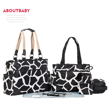 Aboutbaby Diaper Mummy Bag Mum Mother Maternity Nappy Bag Wetbag Stroller Organizer Baby Bags Organizer for Baby Stuff 7 pcs/set