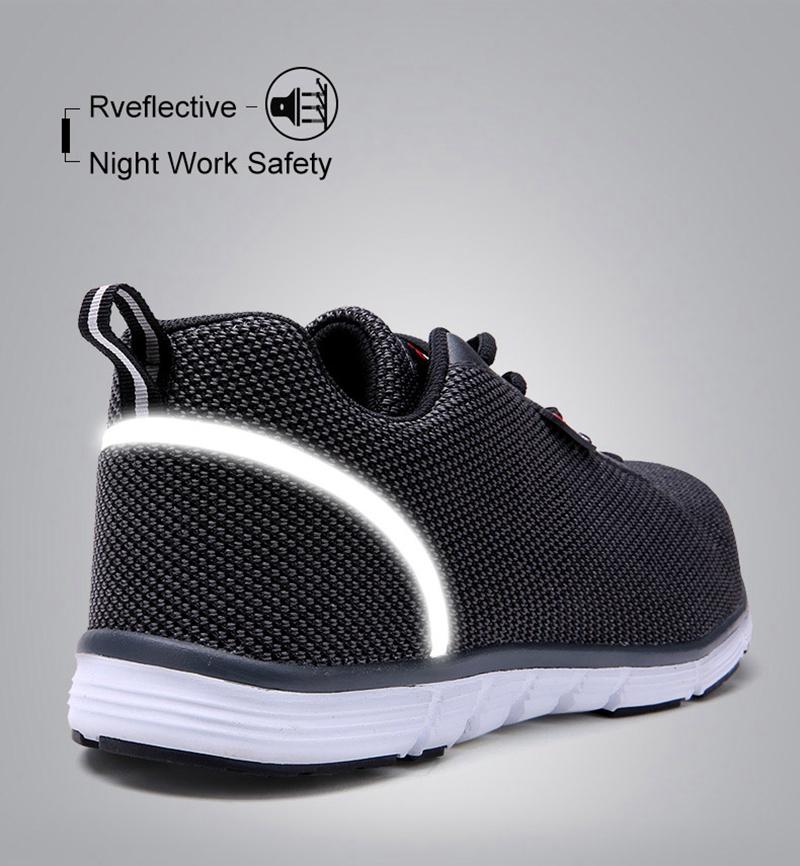 MODYF Men Safety Steel Toe Work Shoes Lightweight Breathable Casual Footwear 7