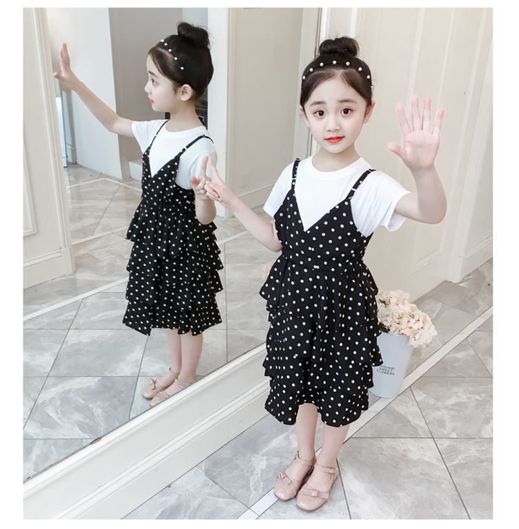 2 Pcs Teenage Girls Clothing Sets Kids Outfits Baby Girls Fashion Clothing Sets Kids Sleeveless Dress And T Shirts Clothes Suits 17 Online shopping Bangladesh