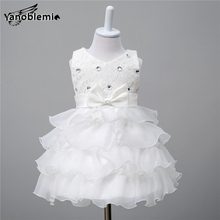 New Baby Girls Brand Wedding Dress Children Cute Flower Bow Sequin Print Dresses Kids Princess Costumes Party Bridesmaid Clothes