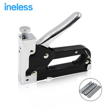 3 Way Nail staple Gun & Stapler for wood furniture, door & upholstery chrome finish with 900 nails(China)